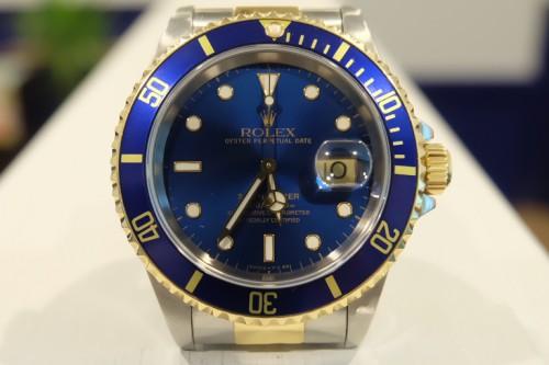 ROLEX SUBMARINER BLUE Ref.16613 青サブ トリチウム夜光 コンビモデル
