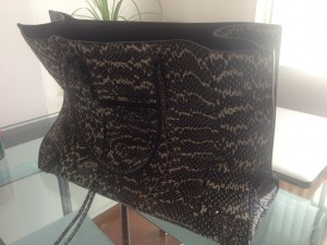 バレンシアガ Balenciaga  ペーパー papier   A4 bag バッグ ヘビ オフィスジップ ジップアラウンド