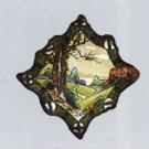 美術品の骨董品・美術品 オールドノリタケ ウッドランドパターン 飾り皿