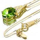 その他 宝石 の宝石 ペリドット K18YG ダイヤモンド ネックレス