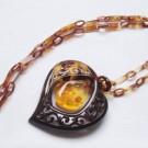 その他 宝石 の宝石 べっこう 琥珀 ペンダント ネックレス