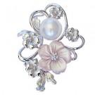 パール(真珠)の宝石 南洋白蝶真珠 ブローチ ペンダント