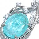 パライバトルマリンの宝石 パライバトルマリン ダイヤモンド ペンダント
