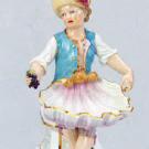 美術品の骨董品・美術品 マイセン 籠を持つ少女