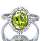その他 宝石 の宝石 スフェーン プラチナ ダイヤ リング