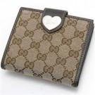 グッチの財布、ケース グッチ ハートホック 二つ折り財布 GGキャンバス