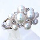 パール(真珠)の宝石 アコヤ本真珠  ダイヤモンドリング