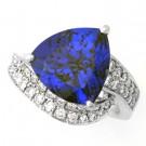 タンザナイトの宝石 タンザナイトダイヤリング pt900