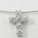 ギメル クロス ダイヤモンドネックレス