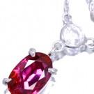 ルビーの宝石 ルビー ダイヤモンド ネックレス