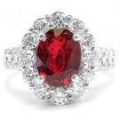 ルビーの宝石 ルビー プラチナ ダイヤモンド リング