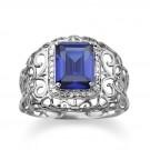 タンザナイトの宝石 タンザナイトリング pt900