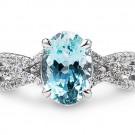 アクアマリンの宝石 アクアマリン      ダイヤリング
