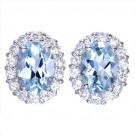 アクアマリンの宝石 アクアマリン      ダイヤイヤリング