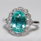 パライバトルマリンの宝石 パライバトルマリン ダイヤモンド リング
