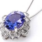 タンザナイトの宝石 タンザナイト ダイヤネックス