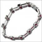 ルビーの宝石 ルビー K18WG ダイヤモンド ブレスレット