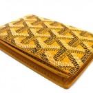 ゴヤールの財布、ケース ゴヤール カードケース イエロー