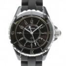 シャネルの時計 シャネル  J12  黒ラバー 腕時計