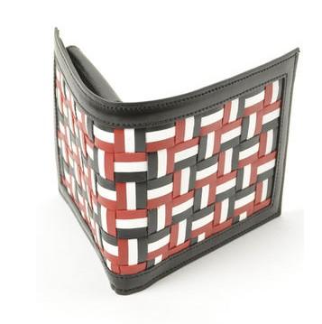 トムブラウン 編み込み 二つ折り 財布 トリコロール