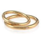金製品の貴金属 ブライダルリング イエローゴールド 750
