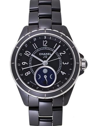 シャネル 腕時計 H3406 J12 ファーズ ドゥ リュヌ セラミック
