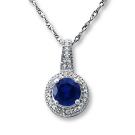 サファイアの宝石 サファイヤ ダイヤ ネックレス
