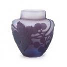 エミール・ガレ 葡萄文花瓶(茶入):52,000円
