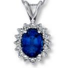 サファイアの宝石 サファイア 14k ネックレス