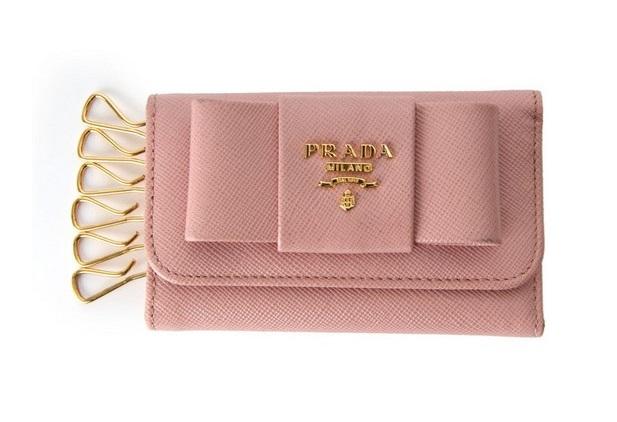 プラダ キーケース サフィアーノ リボンモチーフ 1M0222 ピンク