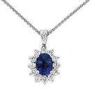 サファイアの宝石 サファイア ダイヤモンド ネックレス
