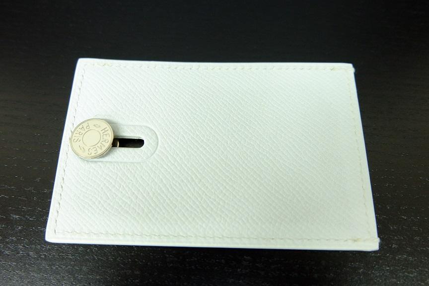 エルメス セリエ カードケース ホワイト L刻印