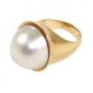パール(真珠)の宝石 マベパール リング 750