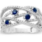 サファイアの宝石 サファイア ダイヤリング