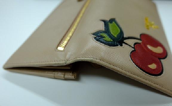 watch 3ff17 f5e14 プラダ サフィアーノ チェリーの長財布を高価買取致しました。