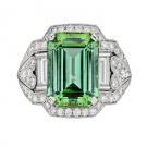 その他 宝石 の宝石 グリーントルマリン ダイヤモンド リング