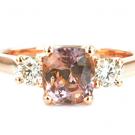 サファイアの宝石 パパラチア サファイア ダイヤモンドリング