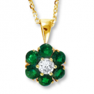 ダイヤモンドの宝石 エメラルド ダイヤモンド ネックレス