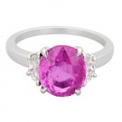 サファイアの宝石 ピンクサファイア ダイヤモンド リング