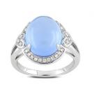 その他 宝石 の宝石 カルセドニー ダイヤモンド リング