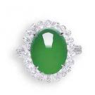 翡翠の宝石 翡翠 ダイヤモンド リング