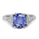 サファイアの宝石 サファイア ダイヤモンド リング