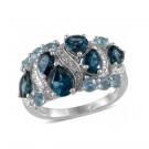 その他 宝石 の宝石 ブルートパーズ ダイヤリング