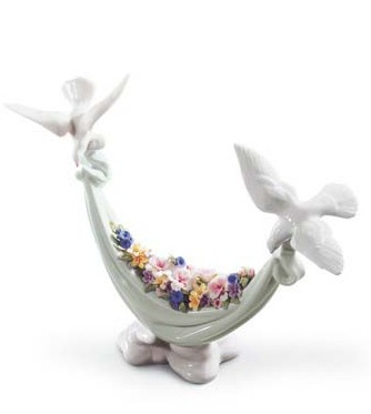 リヤドロ 花かご