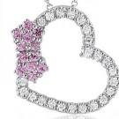 ダイヤモンドの宝石 ハートモチーフ ダイヤモンドネックレス