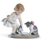 リヤロド フィギュア 猫と少女:32,000円