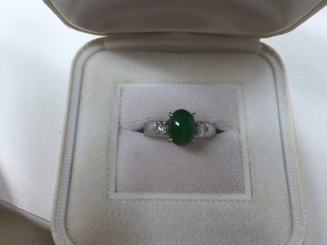 翡翠ダイヤモンドリング
