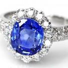 サファイアの宝石 サファイア ダイヤモンドリング  S3ct