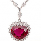 ルビー ダイヤモンド ネックレス:170,000円