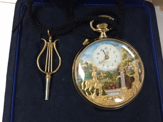リュージュ オルゴール懐中時計